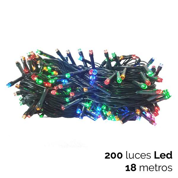 Imagen de 200 LUCES LED MULTICOLOR CON FUNCION C/VERDE