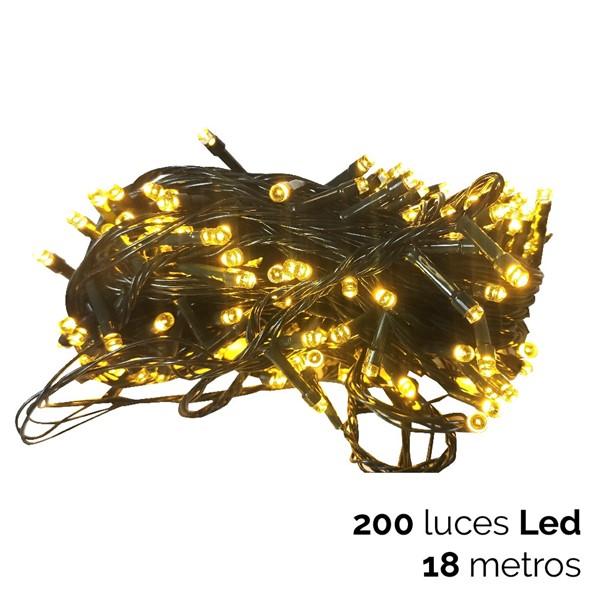Imagen de 200 LUCES LED CALIDAS CON FUNCION C/VERDE