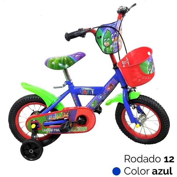 Imagen de Bicicleta Pj Mask Niños Heroes En Pijamas Canasto R12