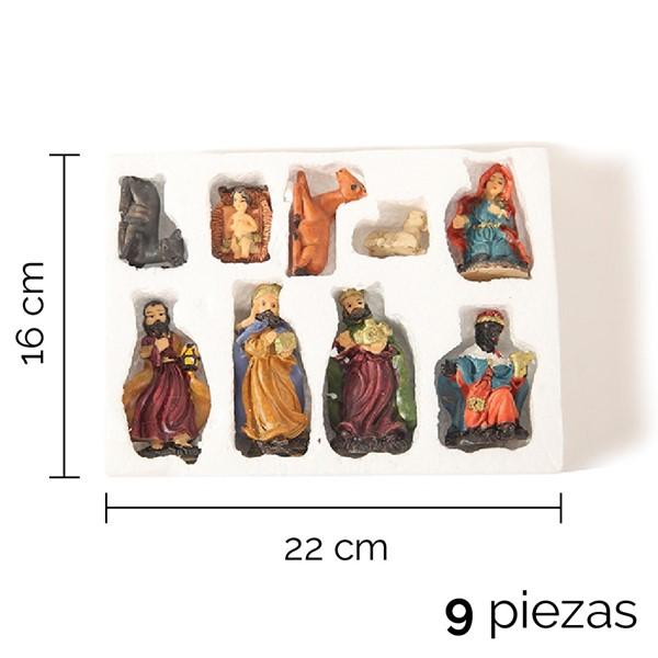 Imagen de PESEBRE 9 PIEZAS 22 X 16 X 4CM
