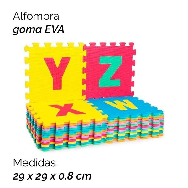 Imagen de ALFOMBRA GOMA EVA X10 DISEÑO LETRAS 2454