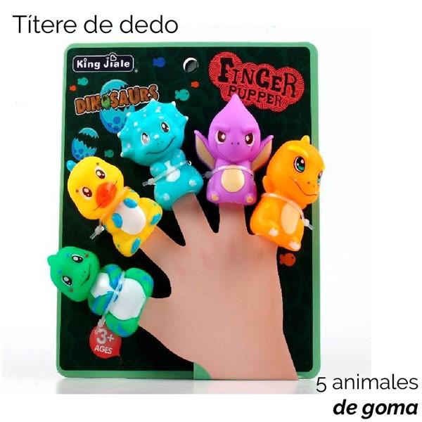 Imagen de TITERES DE GOMA X 5 DINOSAURIOS