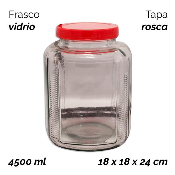 Imagen de FRASCO DE VIDRIO CON TAPA