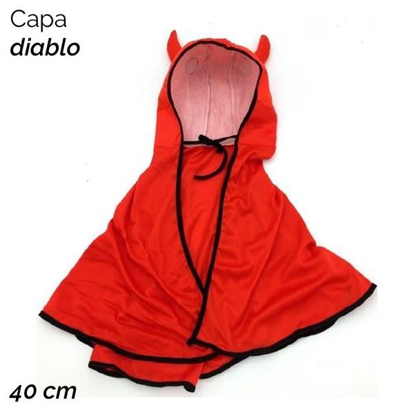 Imagen de CAPA DIABLO C/CAPUCHA Y CUERNOS1641/2763