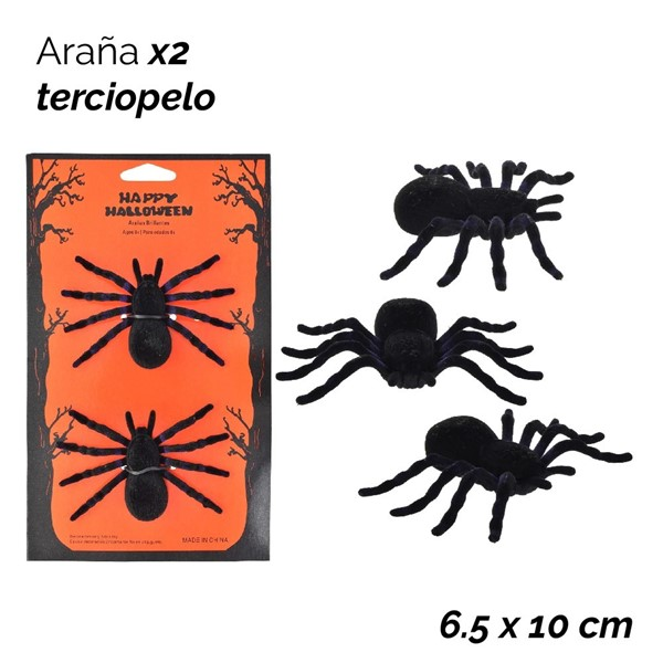 Imagen de HALLOWEEN ARAÑA X 2 CUBIERTA TERCIOPELO