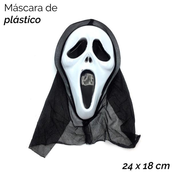 Imagen de MÁSCARA PLÁSTICO FANTASMA TELA 7815/1612